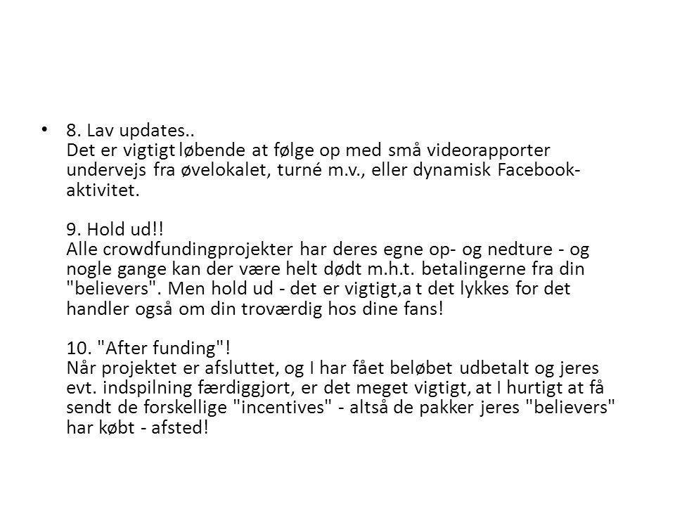 8. Lav updates..