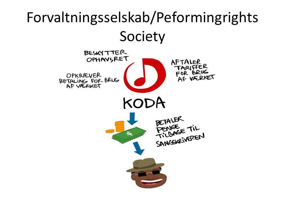 Forvaltningsselskab/Peformingrights Society