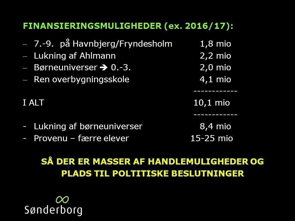 FINANSIERINGSMULIGHEDER (ex. 2016/17): 7.-9.