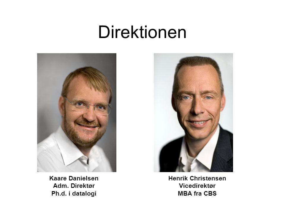 Direktionen Henrik Christensen Vicedirektør MBA fra CBS Kaare Danielsen Adm.