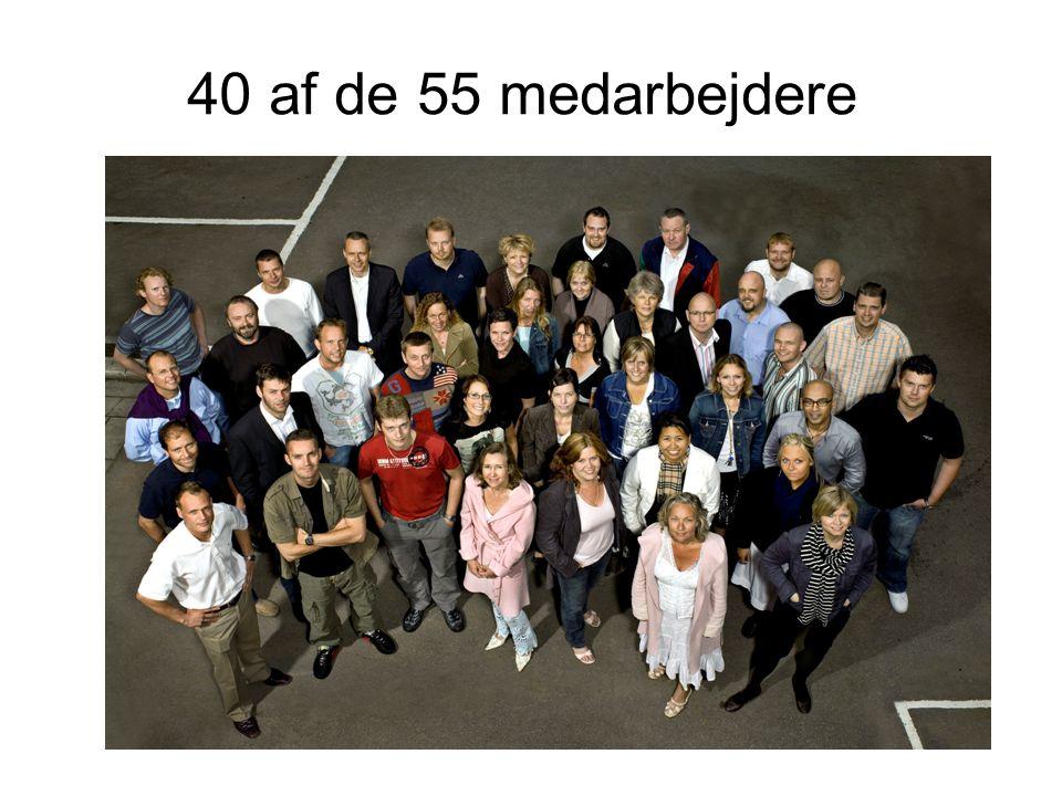 40 af de 55 medarbejdere