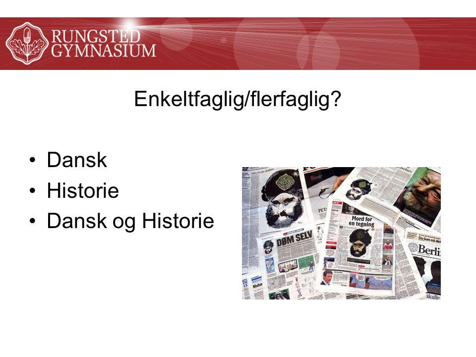 Enkeltfaglig/flerfaglig Dansk Historie Dansk og Historie