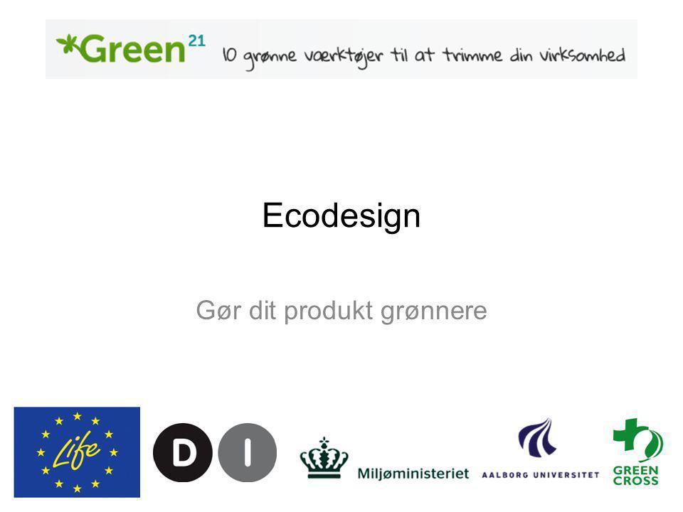Ecodesign Gør dit produkt grønnere