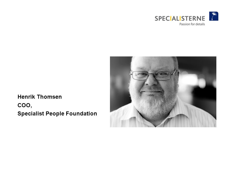 Henrik Thomsen COO, Specialist People Foundation