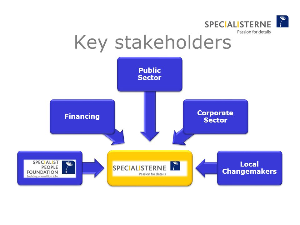 Financing Public Sector Corporate Sector Local Changemakers Key stakeholders