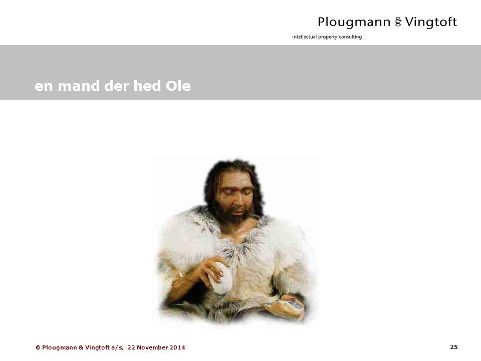 25  Plougmann & Vingtoft a/s, 22 November 2014 en mand der hed Ole