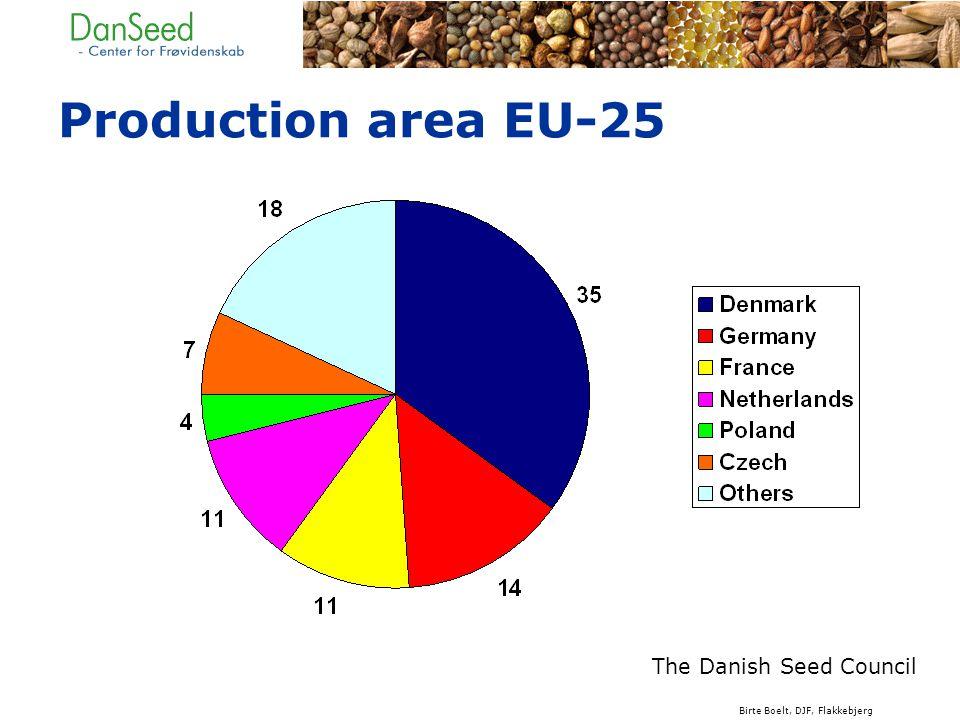 Production area EU-25 The Danish Seed Council Birte Boelt, DJF, Flakkebjerg