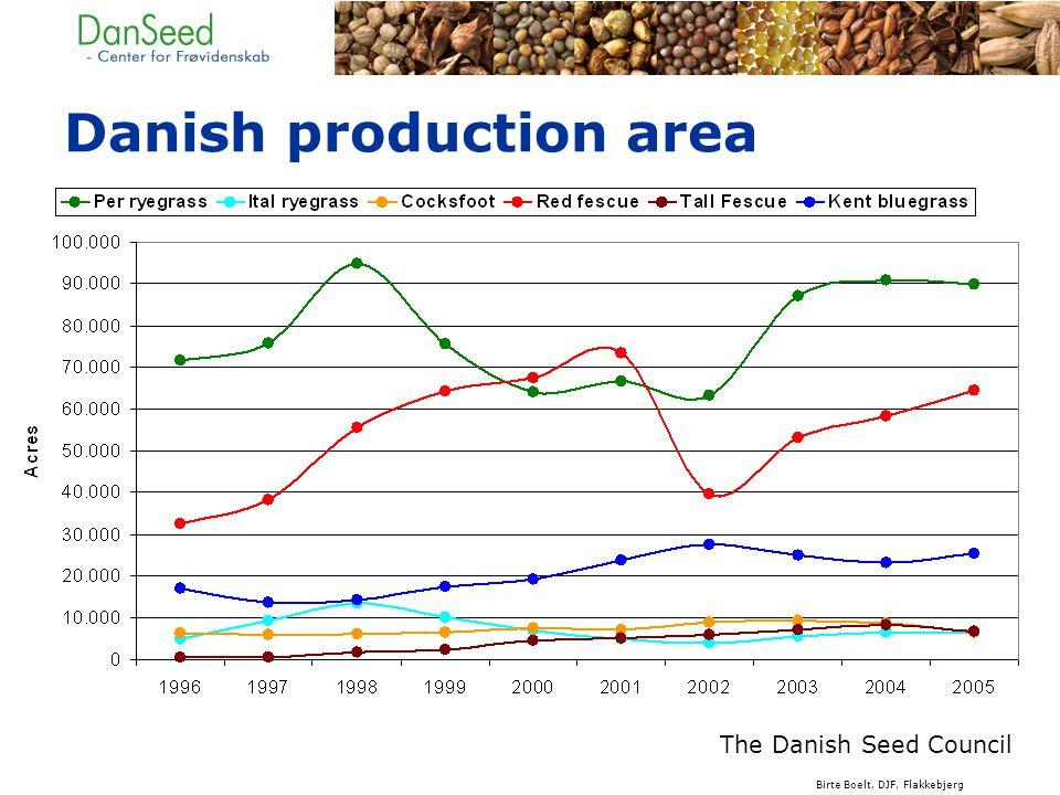 Danish production area The Danish Seed Council Birte Boelt, DJF, Flakkebjerg