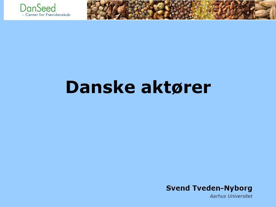 Danske aktører Svend Tveden-Nyborg Aarhus Universitet
