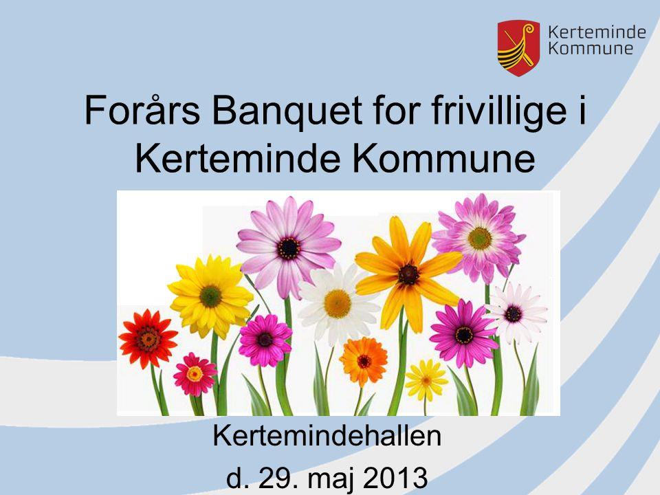 Forårs Banquet for frivillige i Kerteminde Kommune Kertemindehallen d. 29. maj 2013