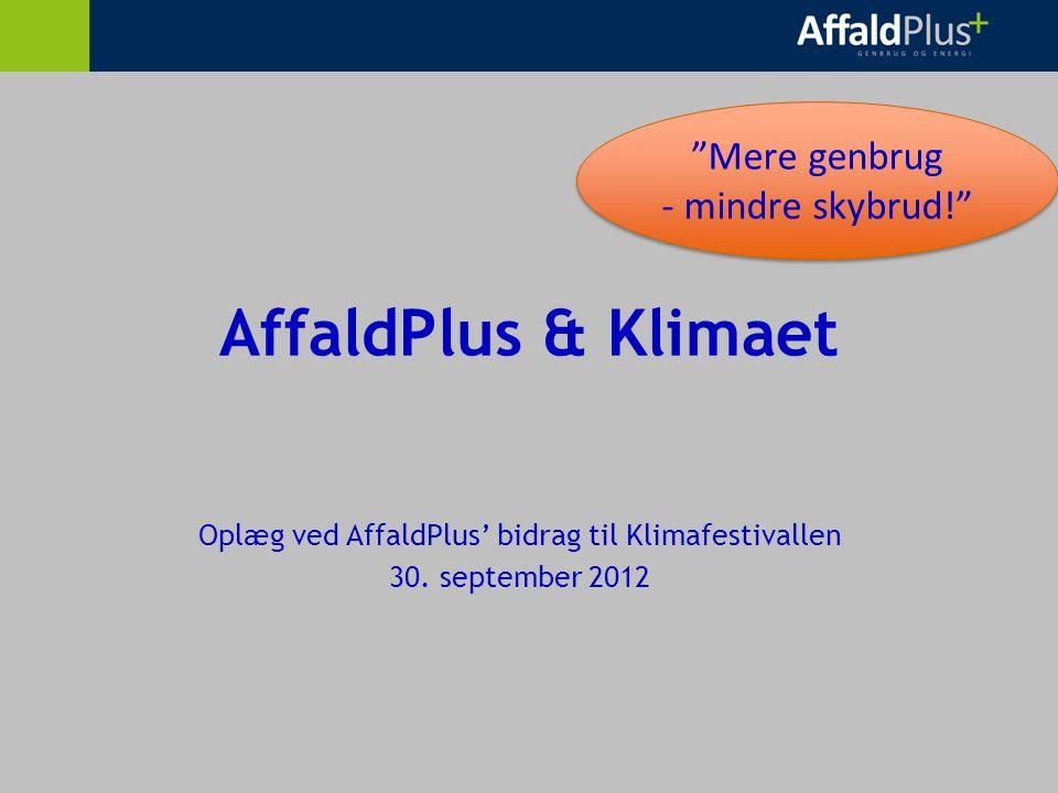 AffaldPlus & Klimaet Oplæg ved AffaldPlus' bidrag til Klimafestivallen 30.
