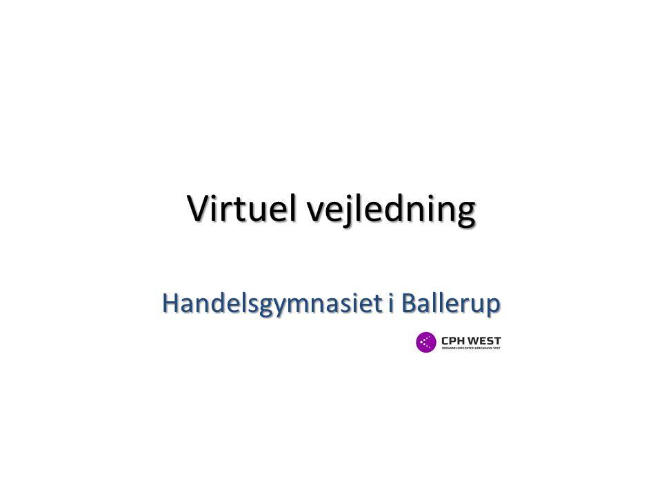 Virtuel vejledning Handelsgymnasiet i Ballerup