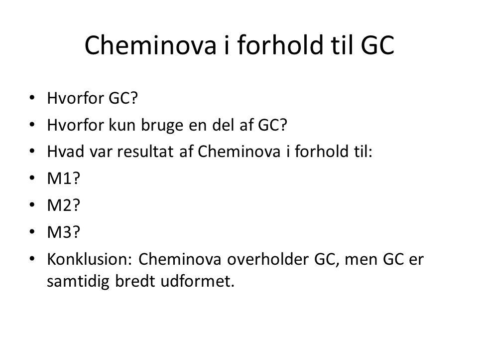 Cheminova i forhold til GC Hvorfor GC. Hvorfor kun bruge en del af GC.