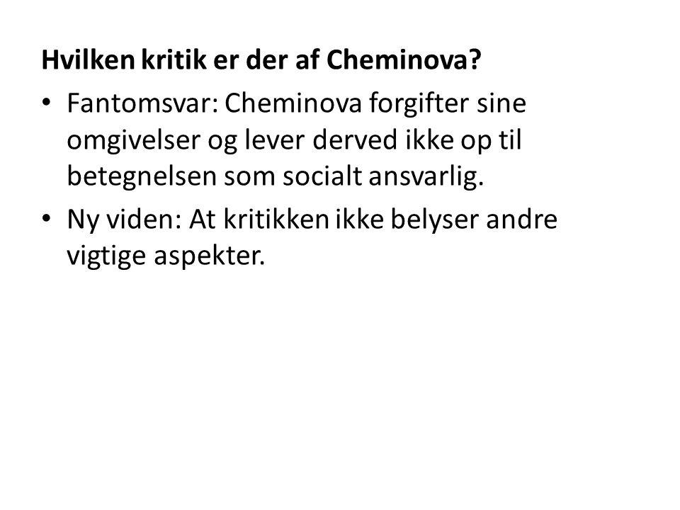 Hvilken kritik er der af Cheminova.