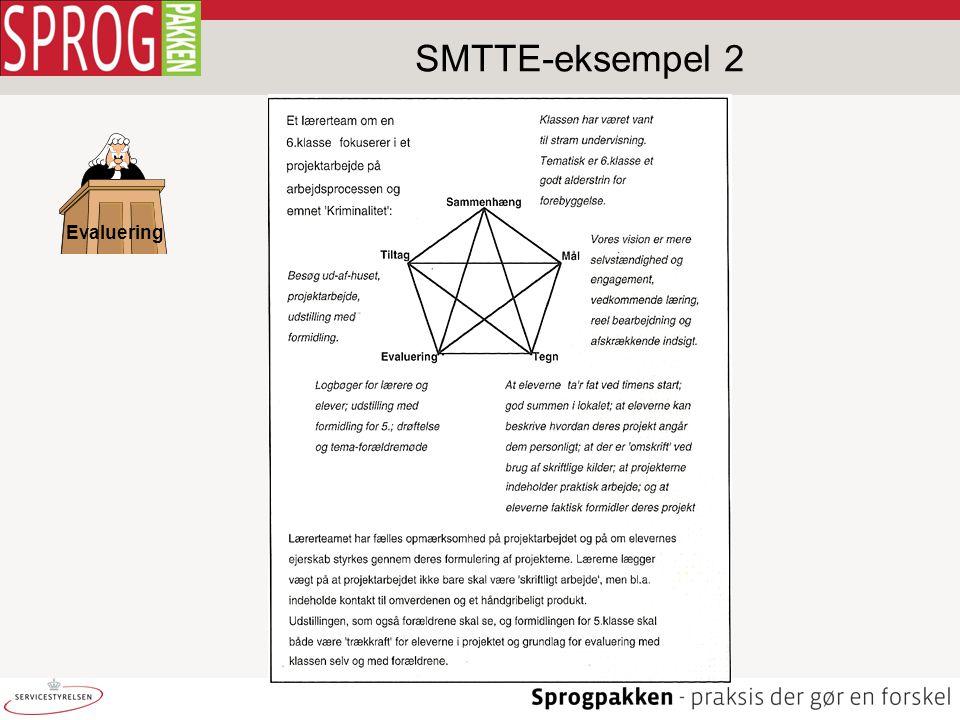 Evaluering SMTTE-eksempel 2