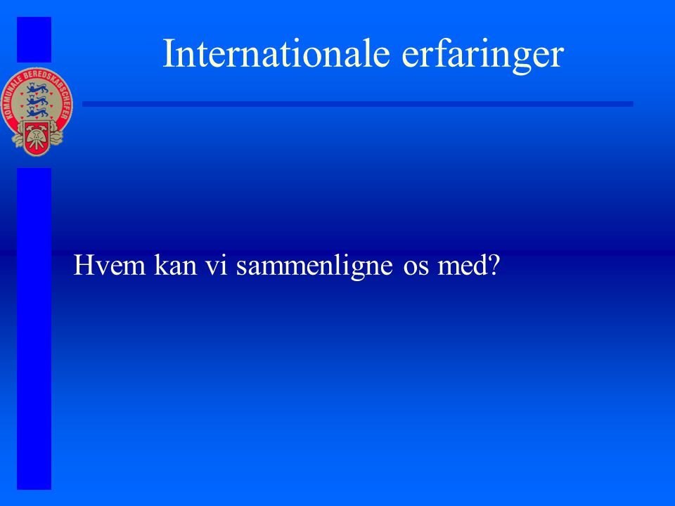 Internationale erfaringer Hvem kan vi sammenligne os med