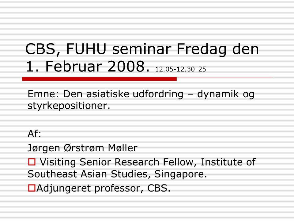 CBS, FUHU seminar Fredag den 1. Februar 2008.