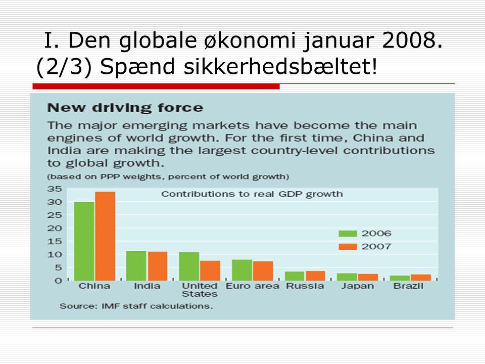 I. Den globale økonomi januar 2008. (2/3) Spænd sikkerhedsbæltet!