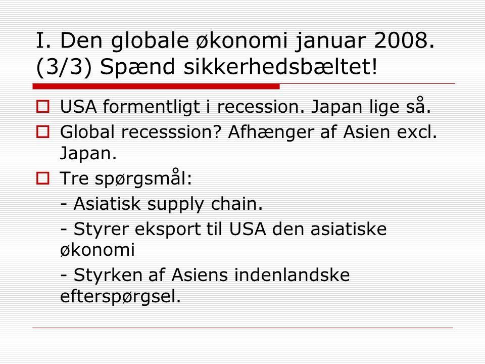 I. Den globale økonomi januar 2008. (3/3) Spænd sikkerhedsbæltet.