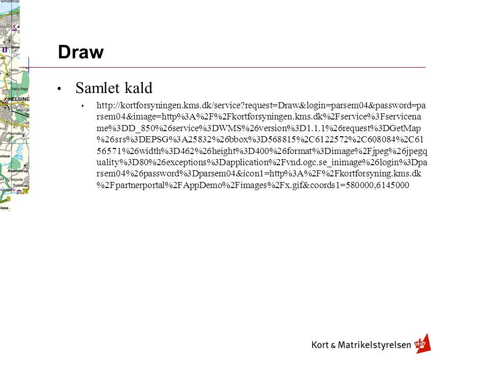 Draw Samlet kald http://kortforsyningen.kms.dk/service request=Draw&login=parsem04&password=pa rsem04&image=http%3A%2F%2Fkortforsyningen.kms.dk%2Fservice%3Fservicena me%3DD_850%26service%3DWMS%26version%3D1.1.1%26request%3DGetMap %26srs%3DEPSG%3A25832%26bbox%3D568815%2C6122572%2C608084%2C61 56571%26width%3D462%26height%3D400%26format%3Dimage%2Fjpeg%26jpegq uality%3D80%26exceptions%3Dapplication%2Fvnd.ogc.se_inimage%26login%3Dpa rsem04%26password%3Dparsem04&icon1=http%3A%2F%2Fkortforsyning.kms.dk %2Fpartnerportal%2FAppDemo%2Fimages%2Fx.gif&coords1=580000,6145000