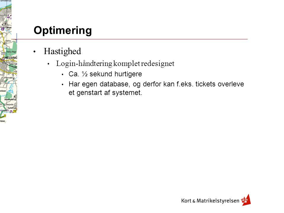 Optimering Hastighed Login-håndtering komplet redesignet Ca.