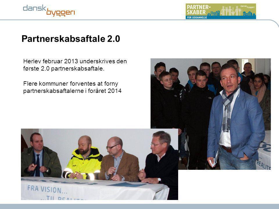 Herlev februar 2013 underskrives den første 2.0 partnerskabsaftale.