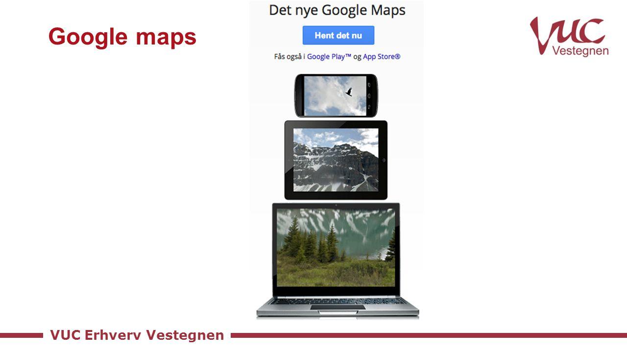 VUC Erhverv Vestegnen Google maps