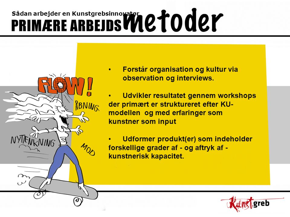 Sådan arbejder en Kunstgrebsinnovatør Forstår organisation og kultur via observation og interviews.