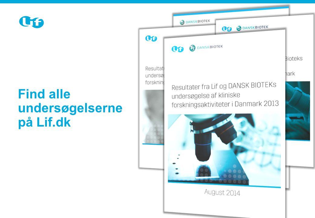 Sektion-slide Brug dette slide, når der kommer et nyt emne i præsentationen Find alle undersøgelserne på Lif.dk