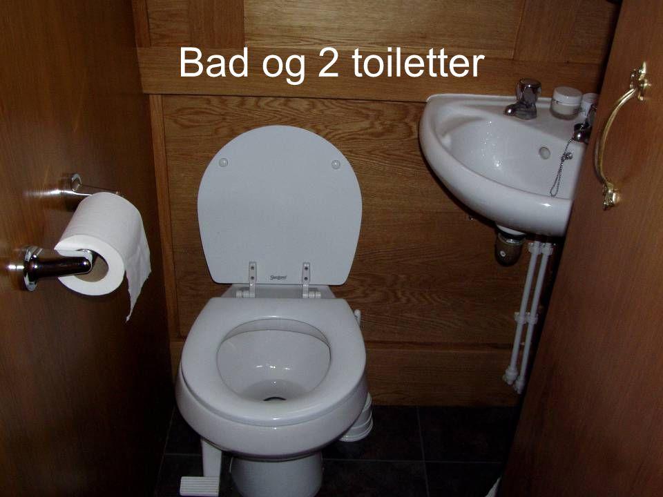 Bad og 2 toiletter