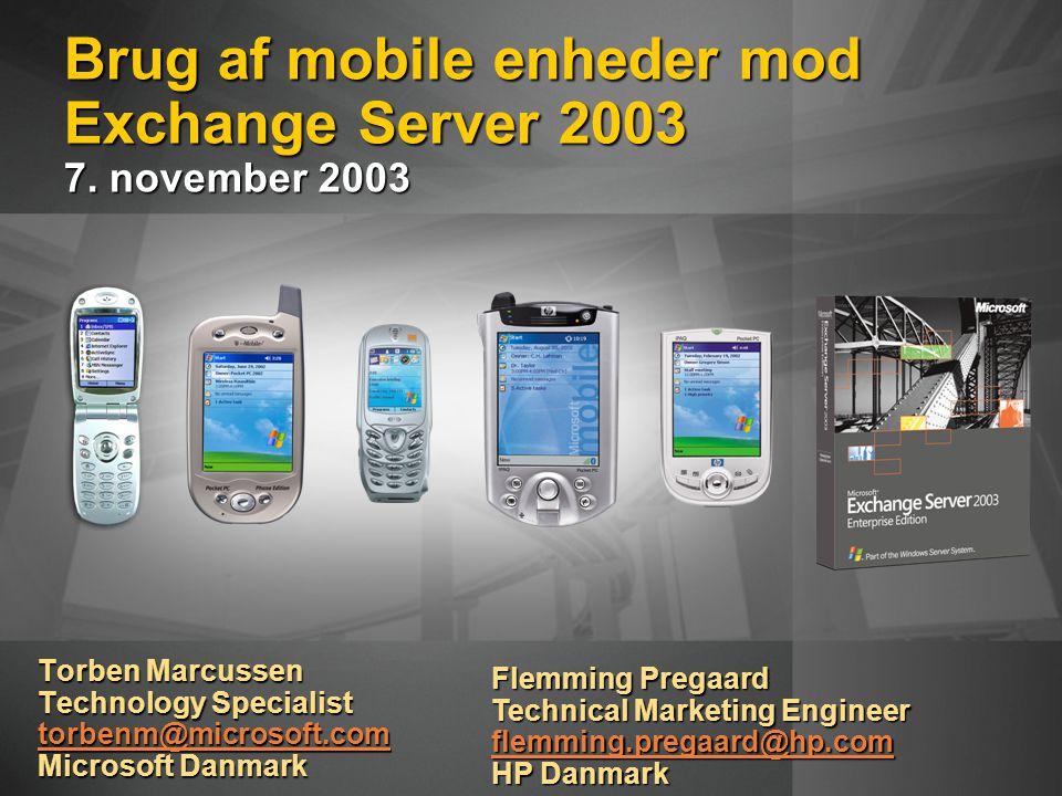 Brug af mobile enheder mod Exchange Server 2003 7.