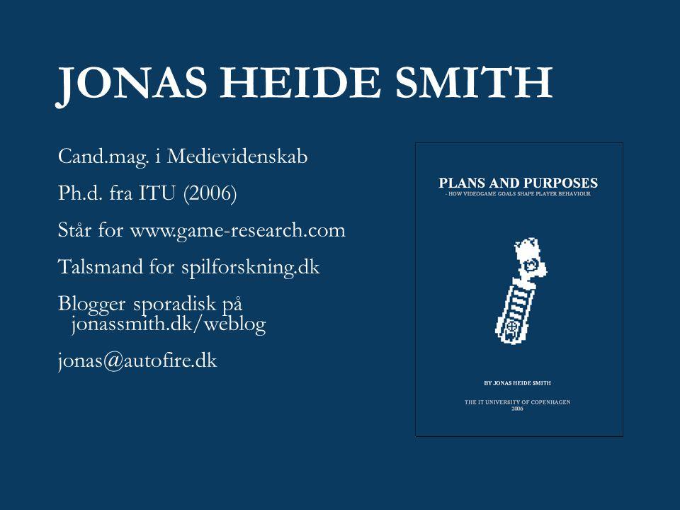 JONAS HEIDE SMITH Cand.mag. i Medievidenskab Ph.d.