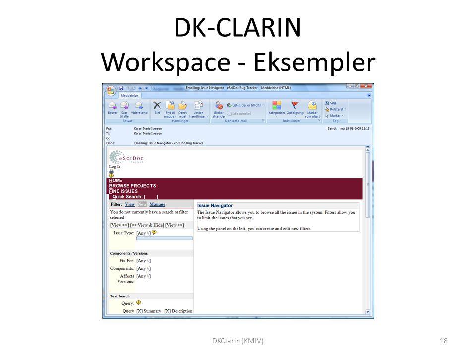 DK-CLARIN Workspace - Eksempler 18DKClarin (KMIV)