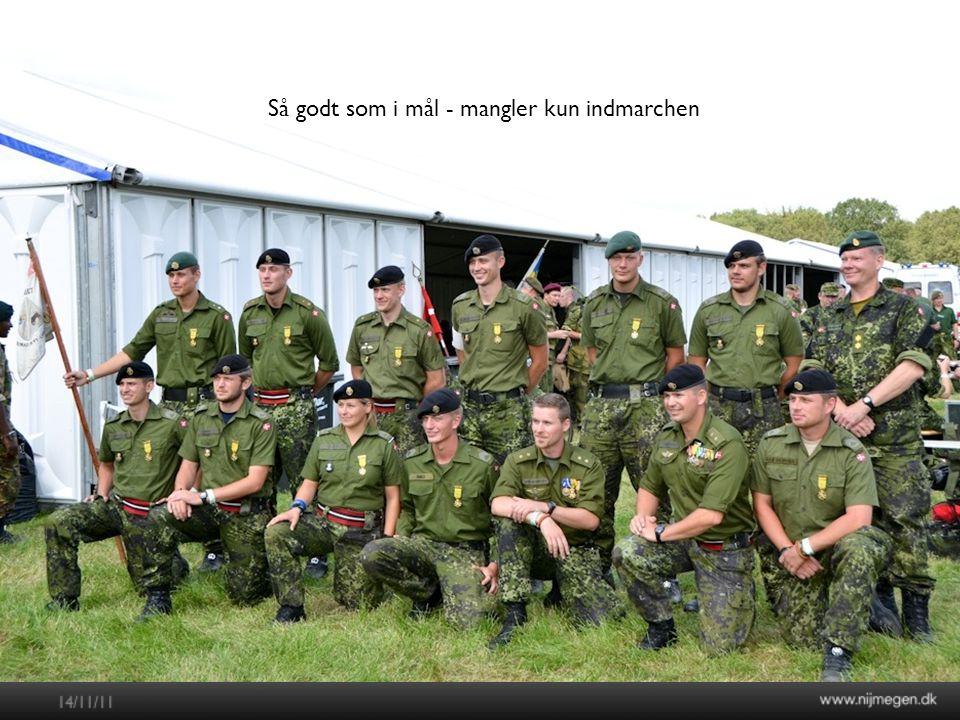 Nijmegenmarchen 2012 Så godt som i mål - mangler kun indmarchen