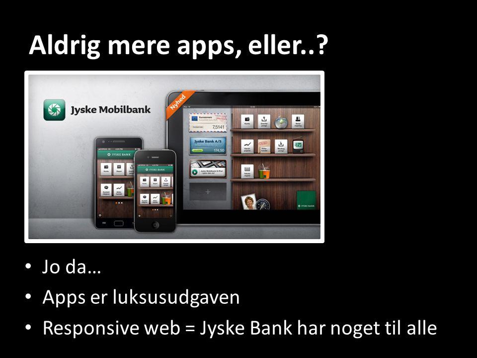 Aldrig mere apps, eller...
