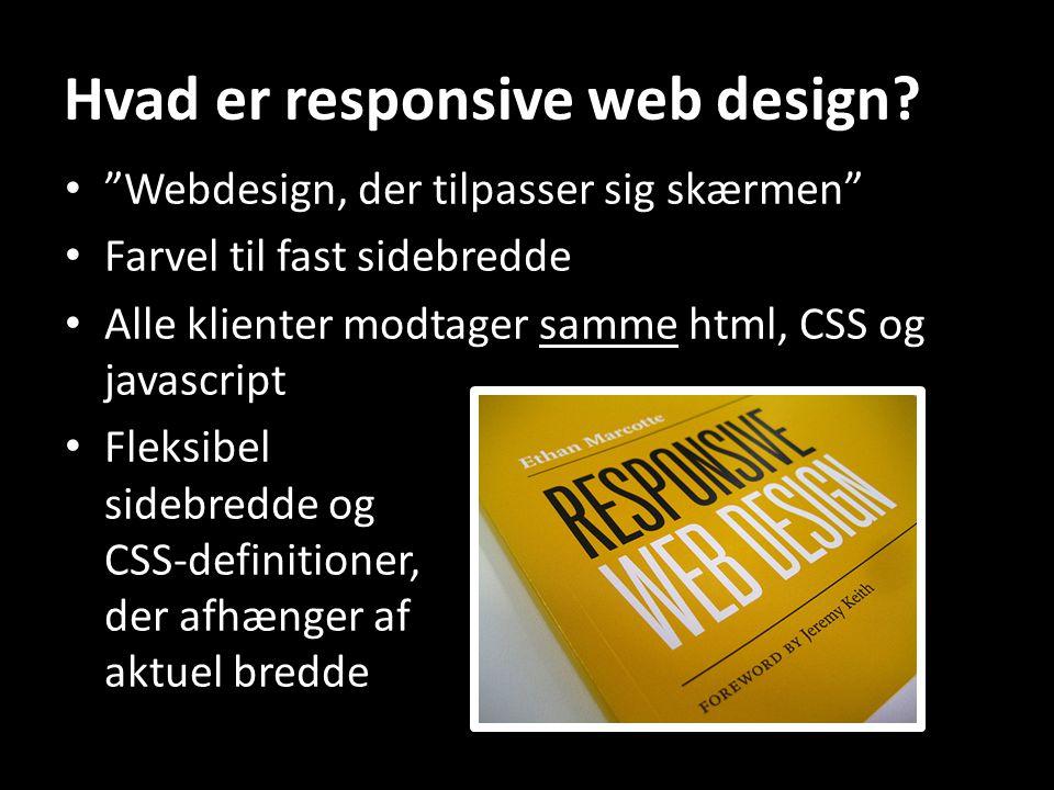 Hvad er responsive web design.