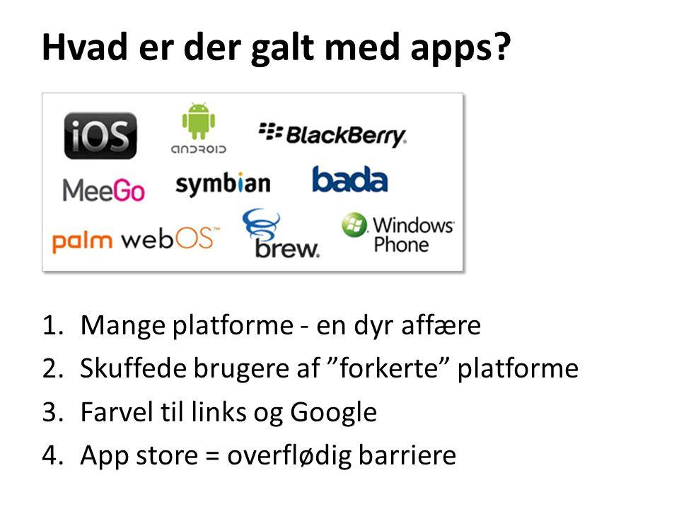 Hvad er der galt med apps.