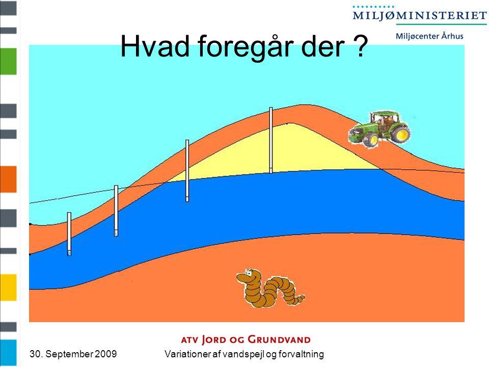 30. September 2009Variationer af vandspejl og forvaltning Hvad foregår der