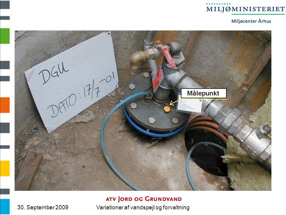30. September 2009Variationer af vandspejl og forvaltning