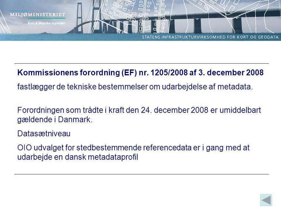 Kommissionens forordning (EF) nr. 1205/2008 af 3.