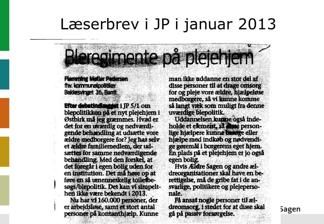 Læserbrev i JP i januar 2013