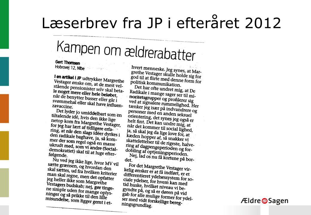 Læserbrev fra JP i efteråret 2012