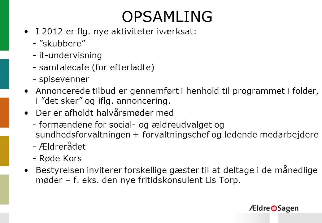 OPSAMLING I 2012 er flg.