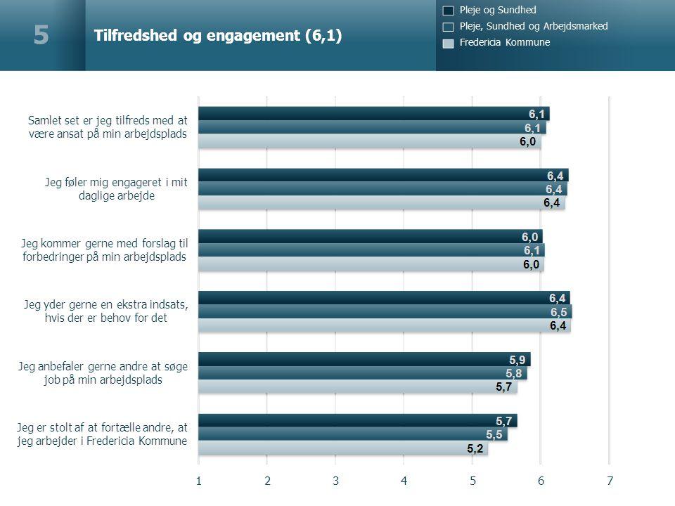 Tilfredshed og engagement (6,1) 5