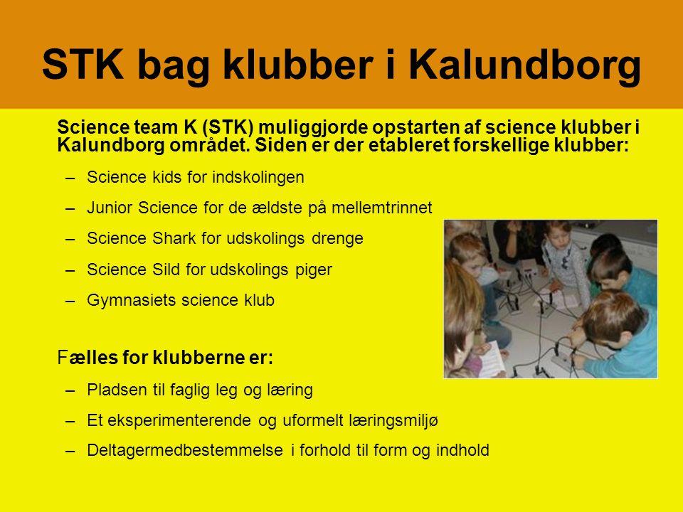 STK bag klubber i Kalundborg Science team K (STK) muliggjorde opstarten af science klubber i Kalundborg området.