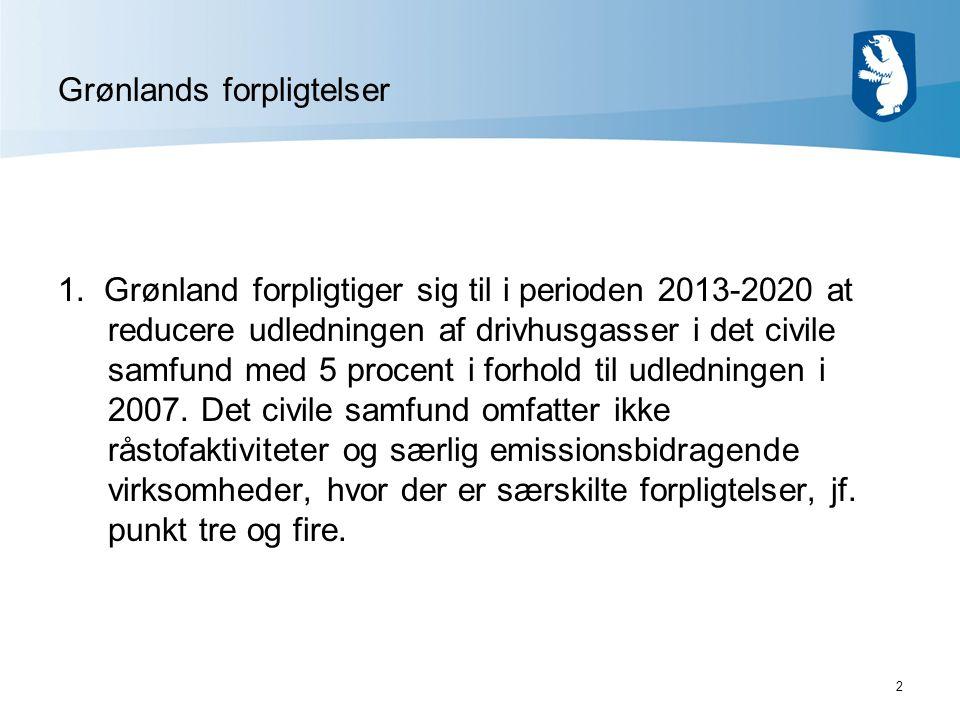 2 Grønlands forpligtelser 1.