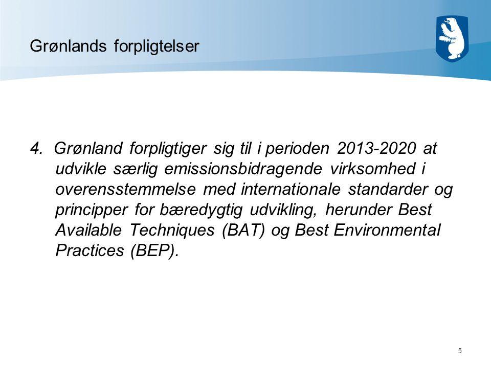 5 Grønlands forpligtelser 4.