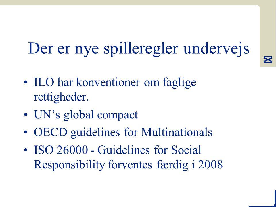 Der er nye spilleregler undervejs ILO har konventioner om faglige rettigheder.