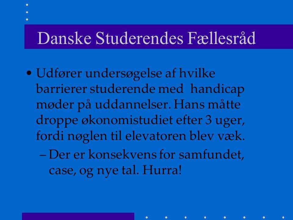 Danske Studerendes Fællesråd Udfører undersøgelse af hvilke barrierer studerende med handicap møder på uddannelser.