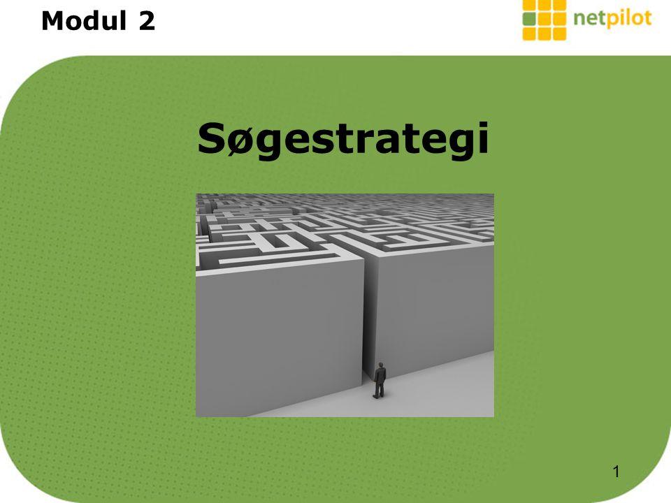 Søgestrategi Modul 2 1